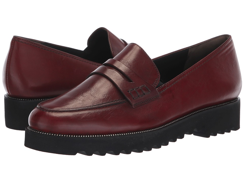 Paul Green Kianna (Wine Leather) Slip-On Shoes