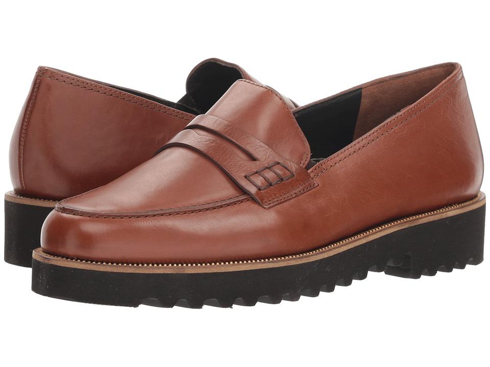 Paul Green Kianna (Cognac Leather) Slip-On Shoes