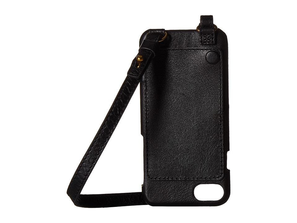 Fossil - Phone Crossbody (Black) Handbags