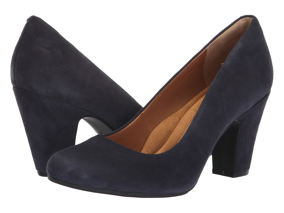 Sofft Madina (Navy King Suede) 1-2 inch heel Shoes