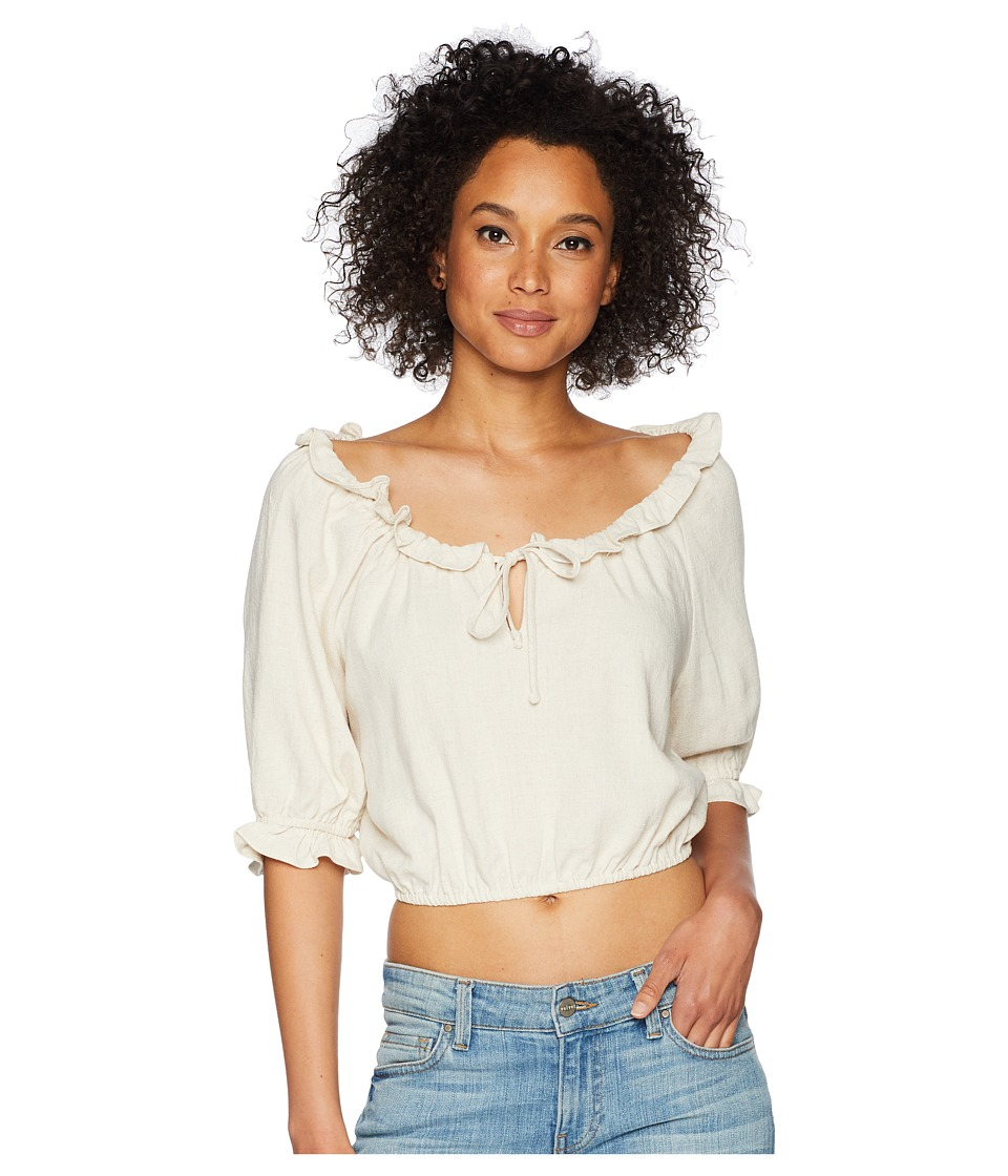 Rachel Pally - Linen Polly Top (Natural) Womens Clothing
