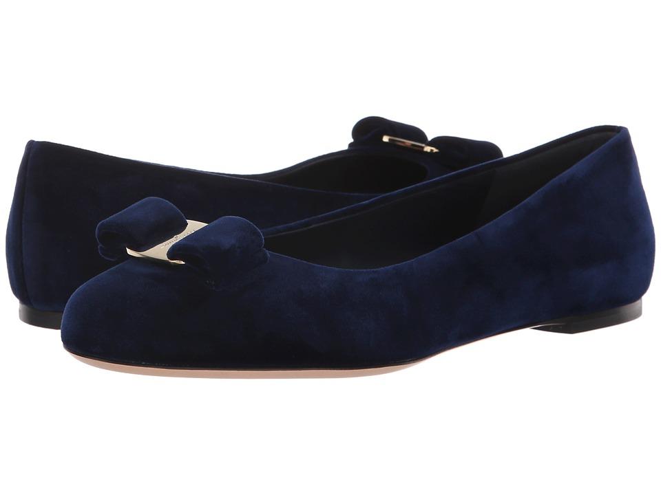 Salvatore Ferragamo Varina V (Oxford Blue Velluto Giul) Slip-On Shoes