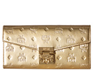 MCM Patricia Patent Flap Wallet/Bifold Large on a Chain