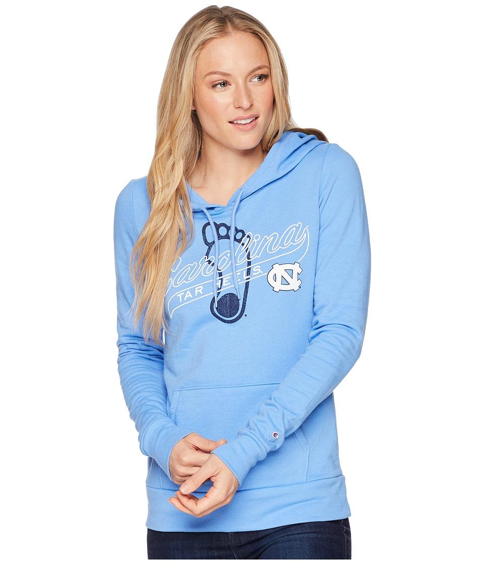 Champion College - North Carolina Tar Heels Eco University Fleece Hoodie (Light Blue) Womens Sweatshirt