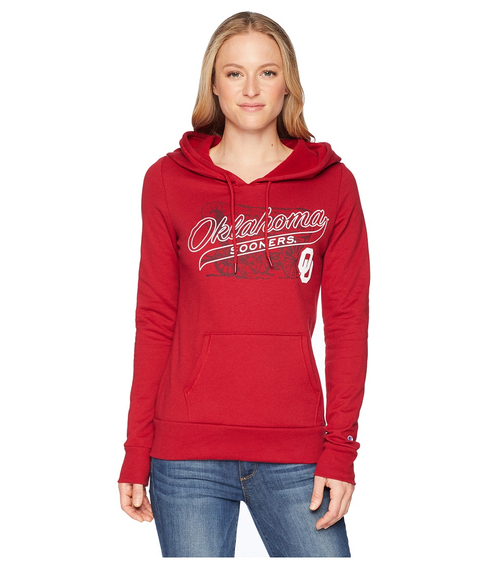 Champion College - Oklahoma Sooners Eco University Fleece Hoodie (Cardinal) Womens Sweatshirt