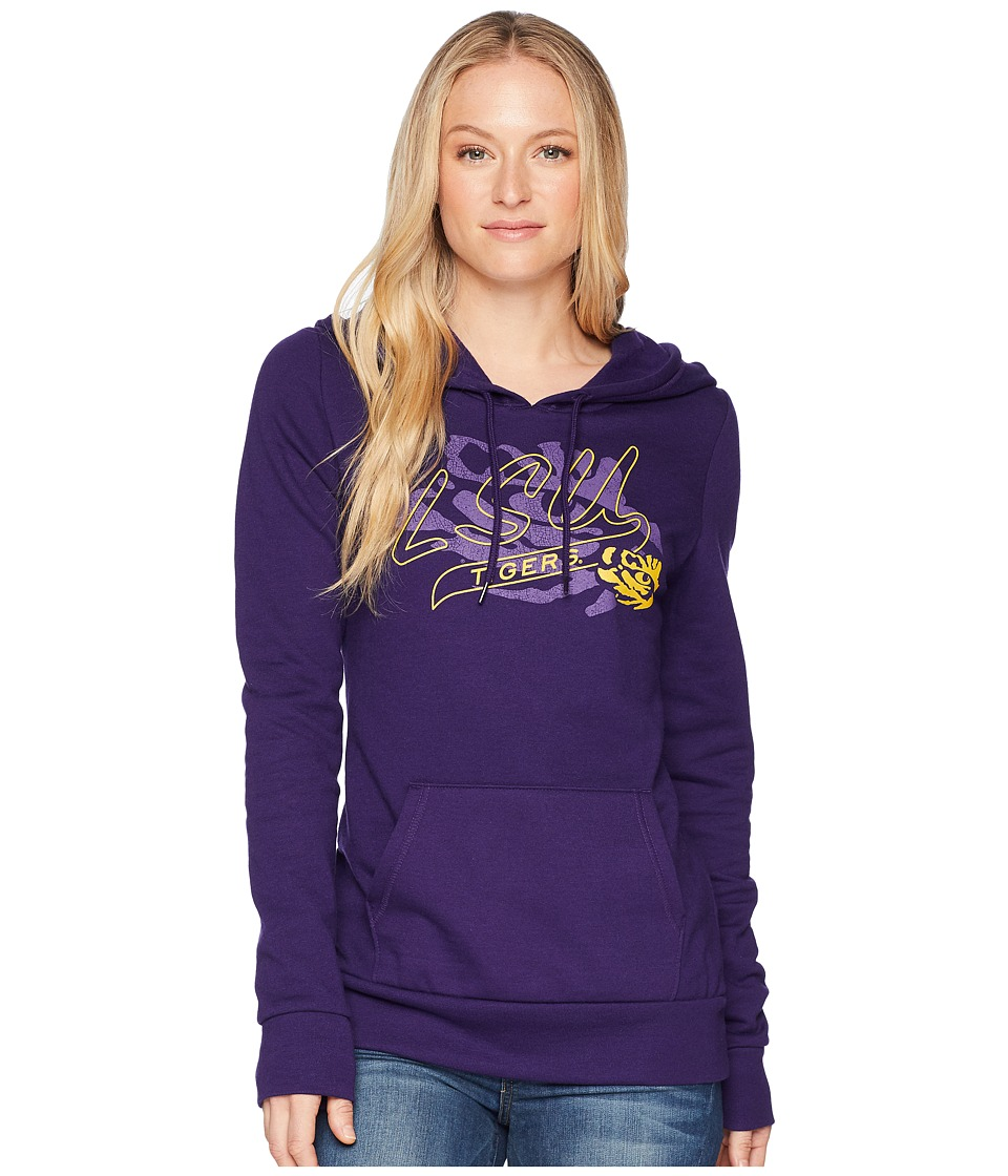 Champion College - LSU Tigers Eco University Fleece Hoodie (Collegiate Purple) Womens Sweatshirt