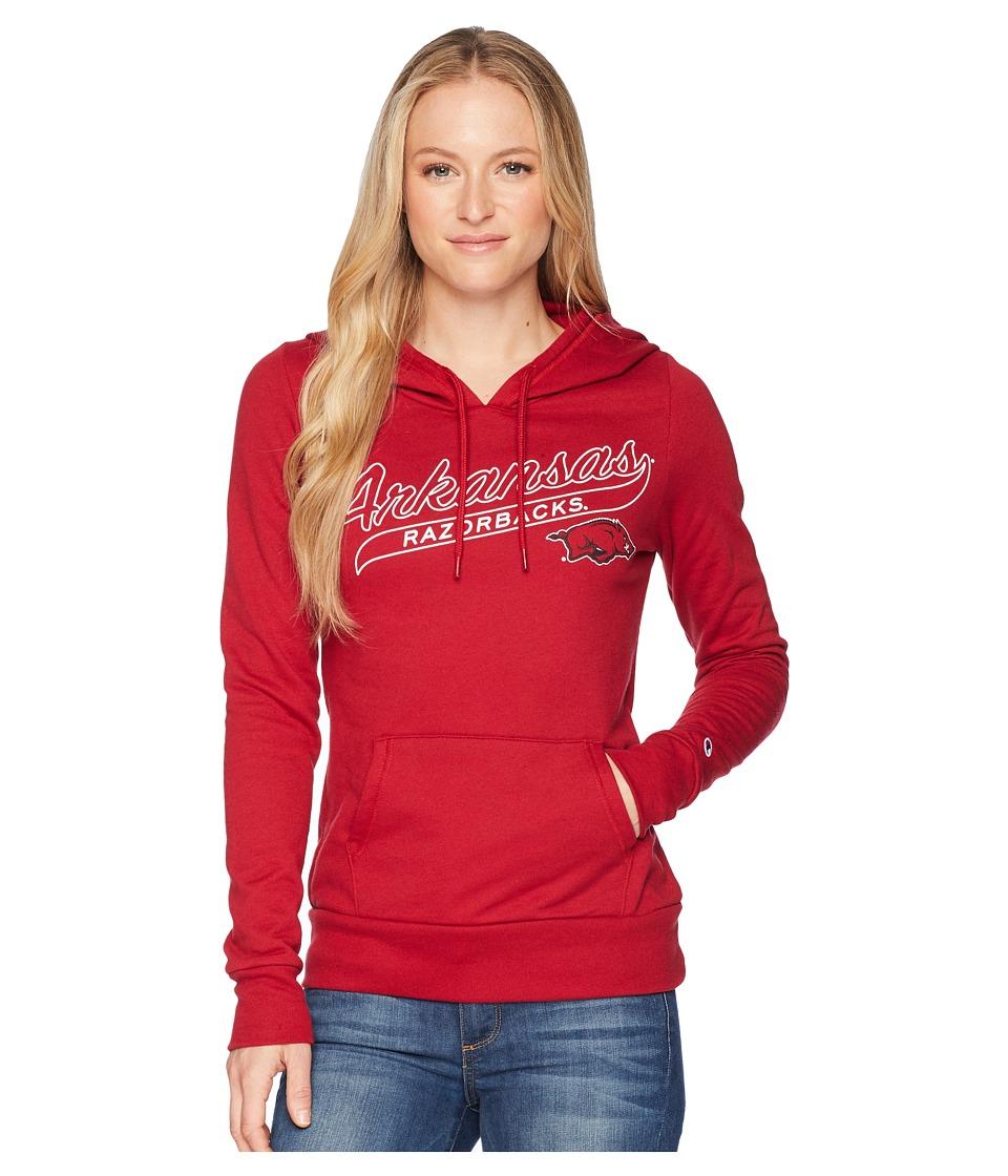 Champion College - Arkansas Razorbacks Eco University Fleece Hoodie (Cardinal) Womens Sweatshirt