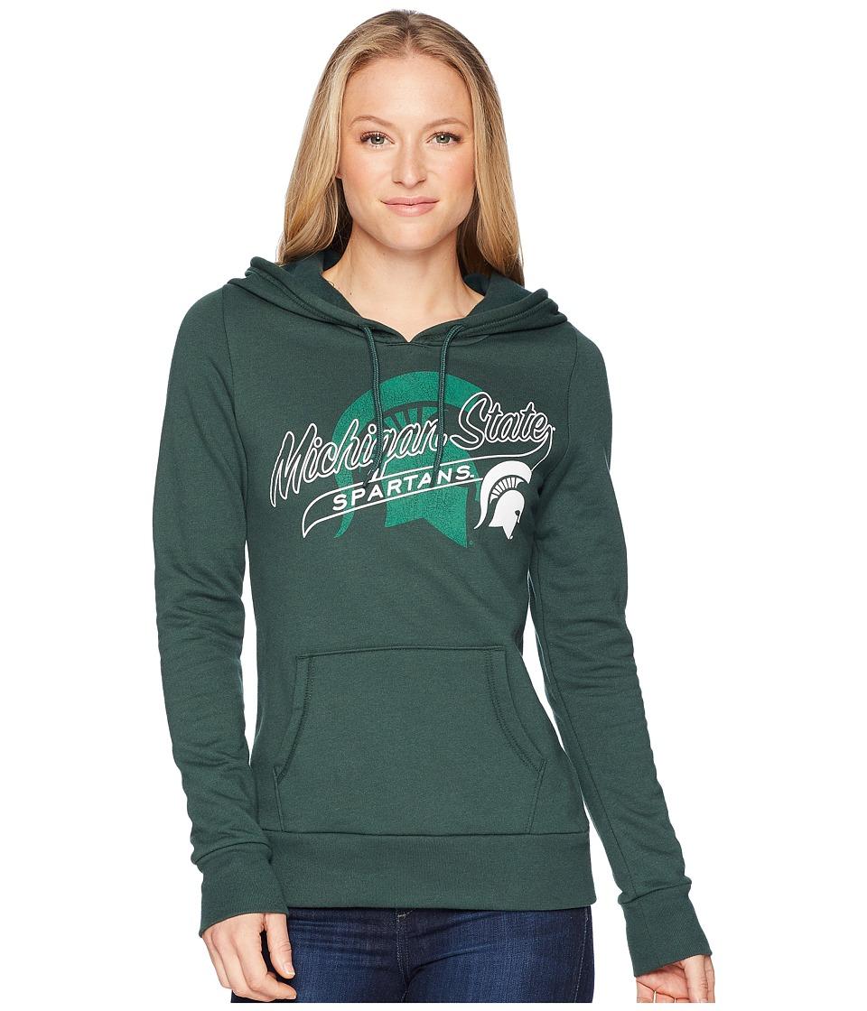 Champion College - Michigan State Spartans Eco University Fleece Hoodie (Dark Green) Womens Sweatshirt