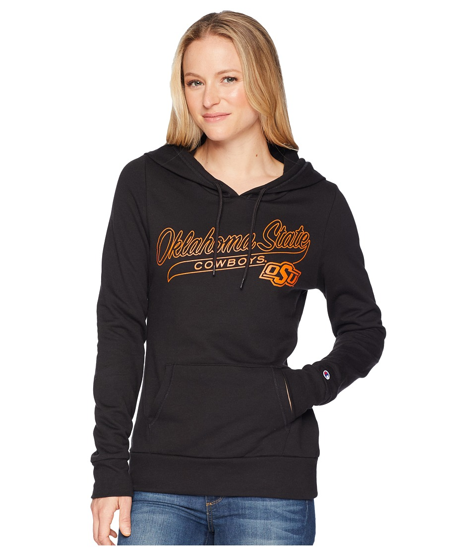 Champion College - Oklahoma State Cowboys Eco University Fleece Hoodie (Black) Womens Sweatshirt