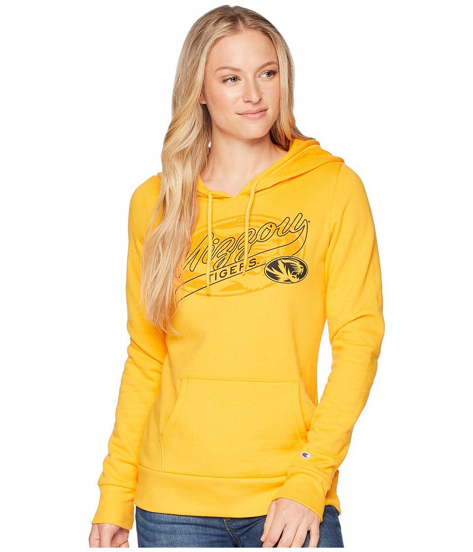 Champion College - Missouri Tigers Eco University Fleece Hoodie (Collegiate Gold) Womens Sweatshirt