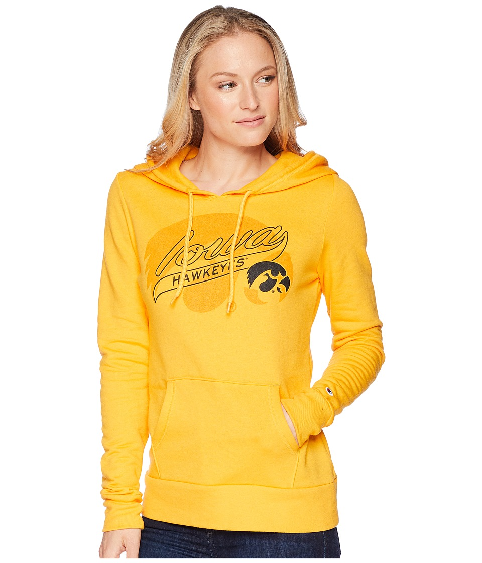 Champion College - Iowa Hawkeyes Eco University Fleece Hoodie (Collegiate Gold) Womens Sweatshirt