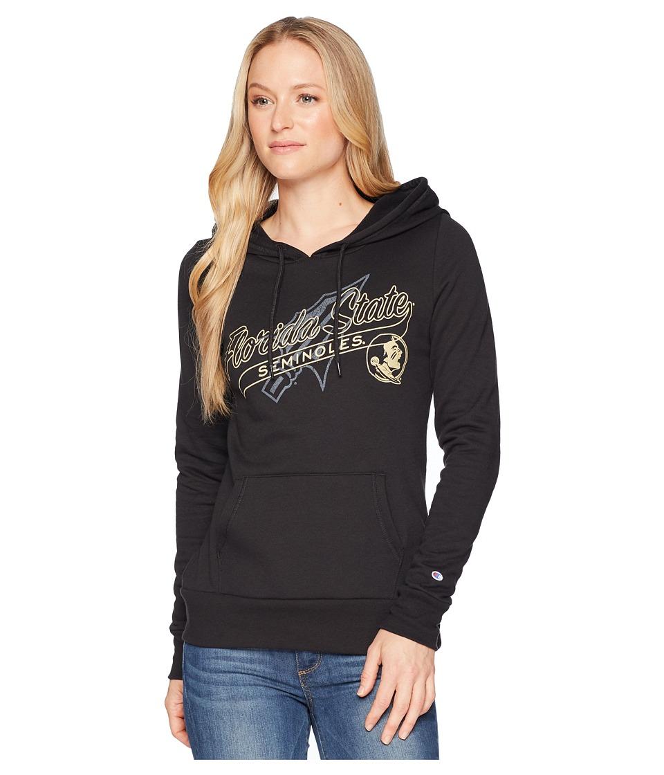 Champion College - Florida State Seminoles Eco University Fleece Hoodie (Black) Womens Sweatshirt