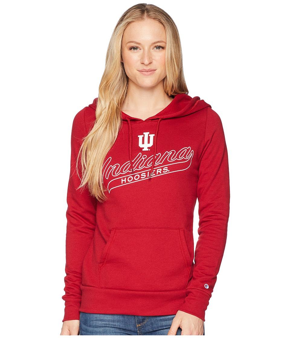 Champion College - Indiana Hoosiers Eco University Fleece Hoodie (Cardinal) Womens Sweatshirt