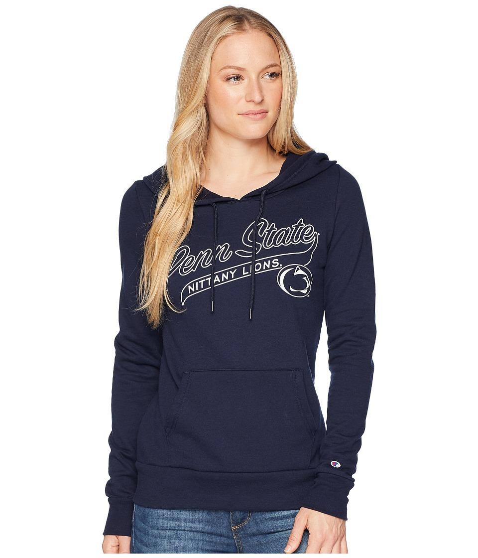 Champion College - Penn State Nittany Lions Eco University Fleece Hoodie (Navy) Womens Sweatshirt