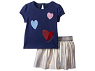 Kate Spade New York Kids Tossed Hearts Skirt Set (Infant)
