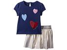 Kate Spade New York Kids Kate Spade New York Kids Tossed Hearts Skirt Set (Infant)