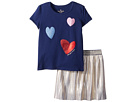 Kate Spade New York Kids Tossed Hearts Skirt Set (Toddler/Little Kids)
