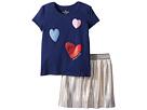 Kate Spade New York Kids Kate Spade New York Kids Tossed Hearts Skirt Set (Toddler/Little Kids)