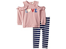 Kate Spade New York Kids Love Leggings Set (Infant)