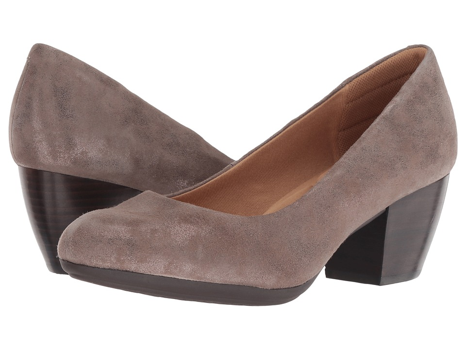 Comfortiva Amora (Smoke Distressed Foil Suede) High Heels