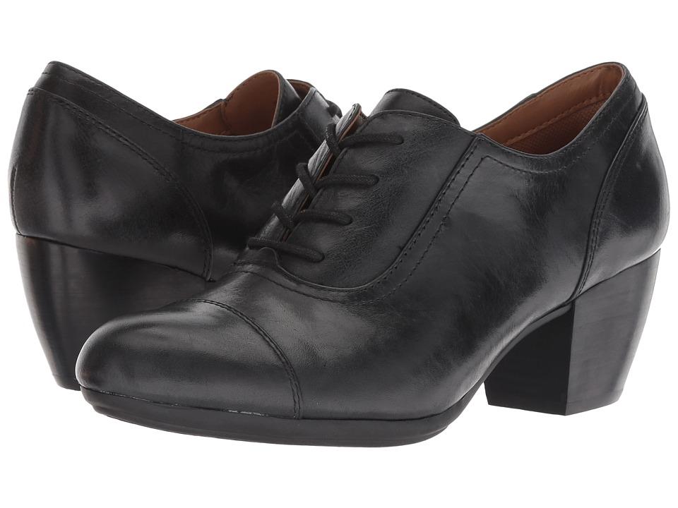 Vintage Style Shoes, Vintage Inspired Shoes Comfortiva Angelique Black Montana High Heels $99.95 AT vintagedancer.com