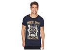 Scotch & Soda Ams Blauw Regular Fit Graphic T-Shirt