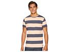 Scotch & Soda Ams Blauw Single Pocket Regular Fit Colored Striped T-Shirt