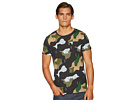 Scotch & Soda Ams Blauw All Over Printed T-Shirt in Regular Fit