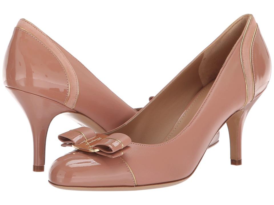 Salvatore Ferragamo Carla Lux (New Blush Patent) 1-2 inch heel Shoes