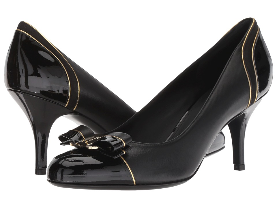 Salvatore Ferragamo Carla Lux (Nero Patent) 1-2 inch heel Shoes