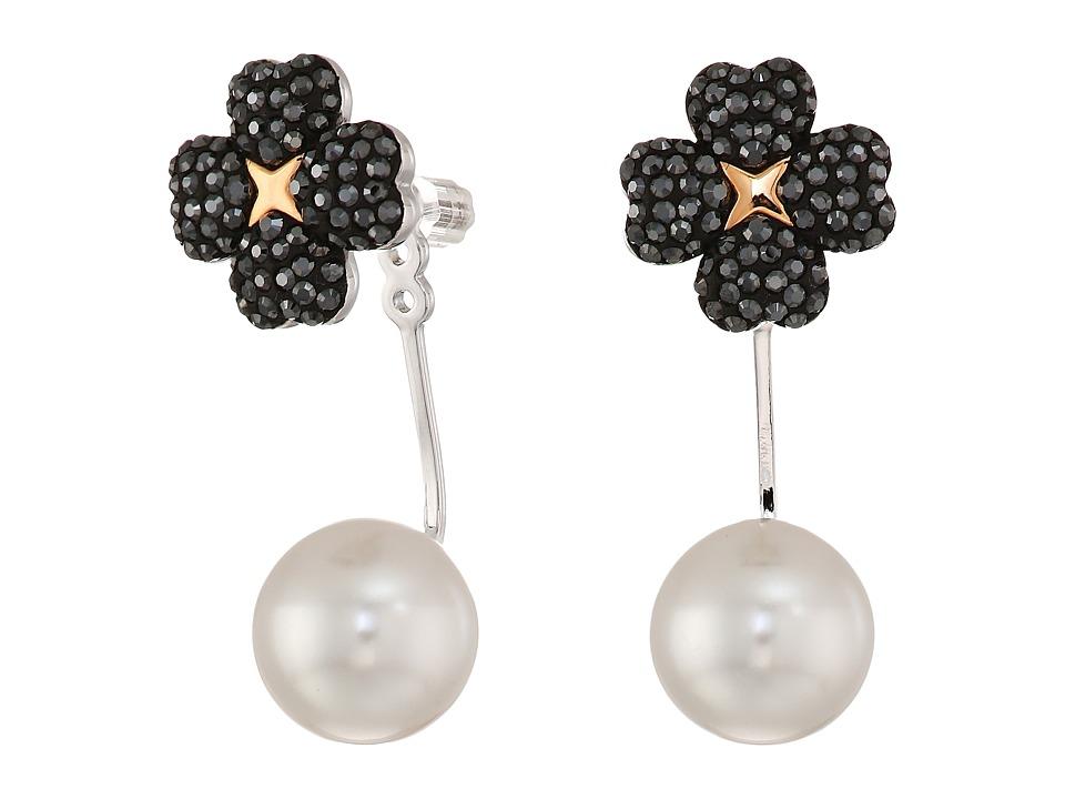 Swarovski - Latisha Pierced Earrings Jackets (Teal) Earring