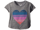 Chaser Kids Extra Soft Stripe Heart Tee (Toddler/Little Kids)
