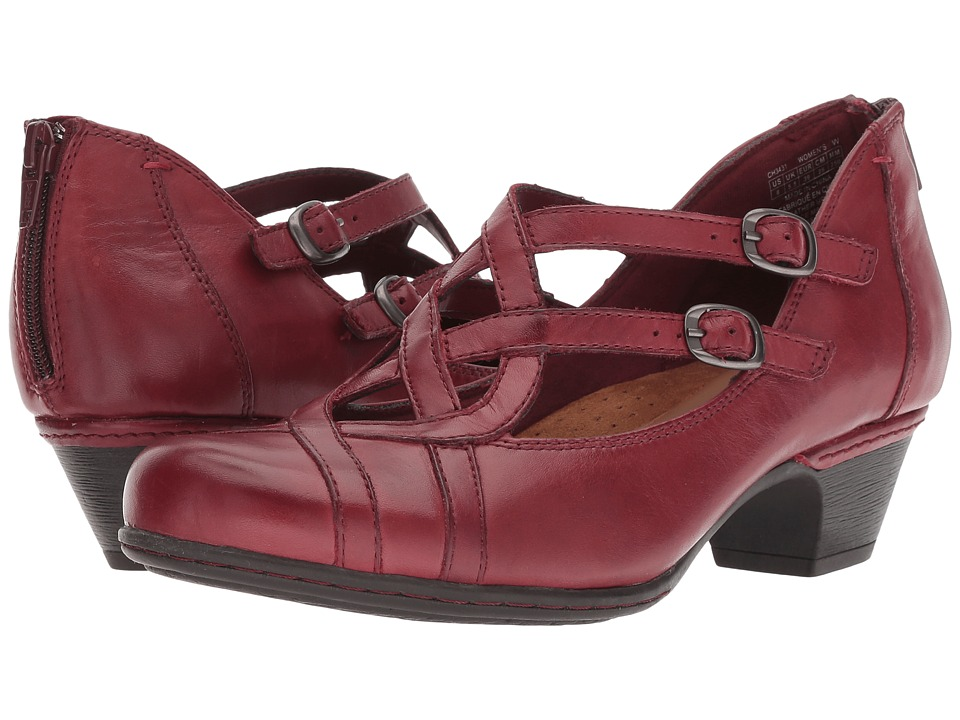Rockport Cobb Hill Collection Abbott Curvy Shoe (Red) Women's Shoes