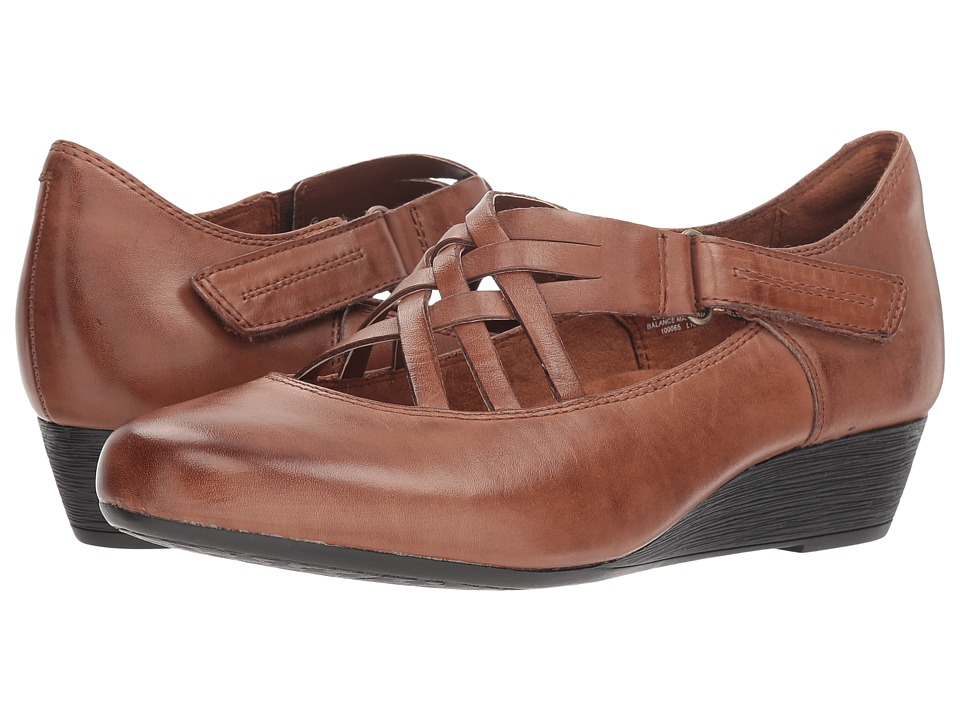 Rockport Cobb Hill Collection Cobb Hill Judson X Strap (Almond Leather) Women's Shoes