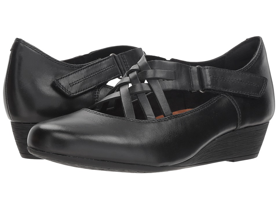 Rockport Cobb Hill Collection Cobb Hill Judson X Strap (Black Leather) Women's Shoes