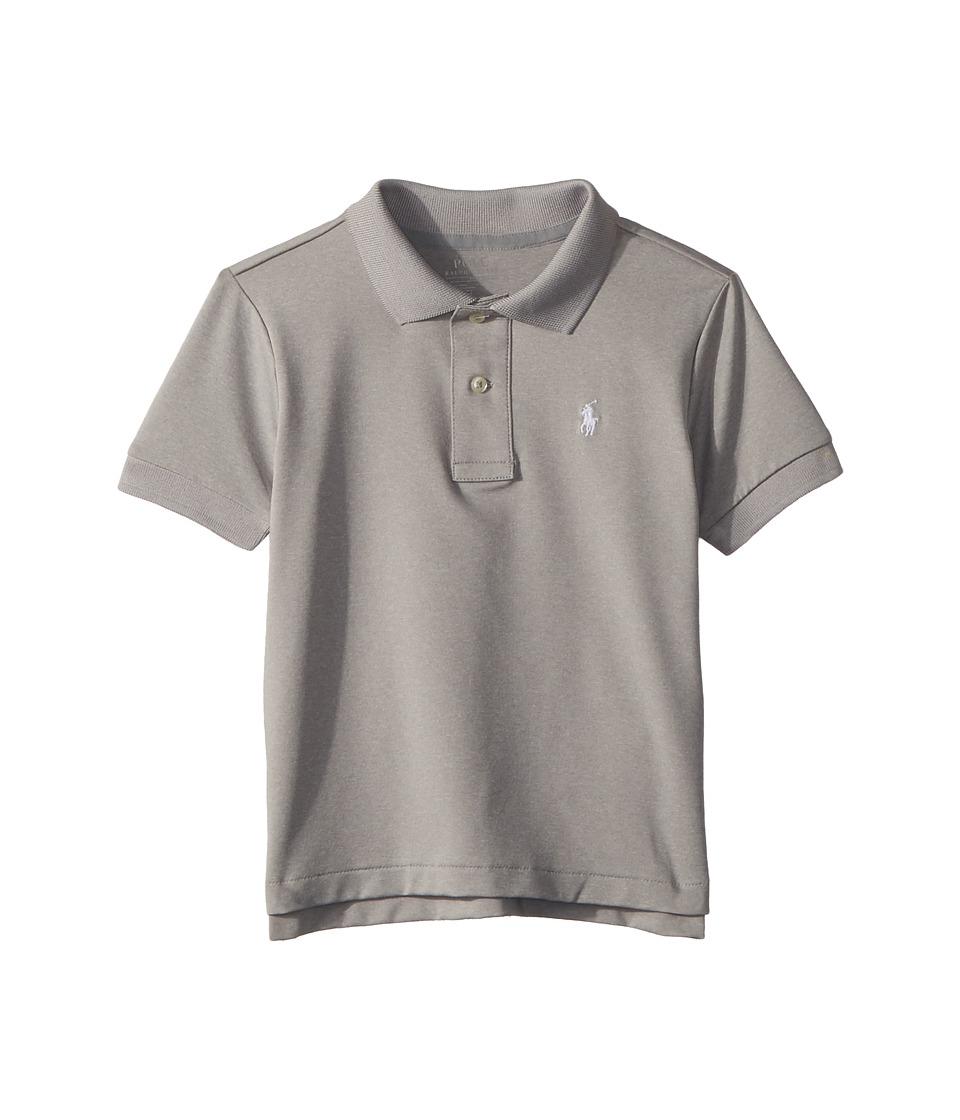Polo Ralph Lauren Kids - Performance Lisle Polo Shirt (Toddler) (Light Grey Heather) Boys Clothing
