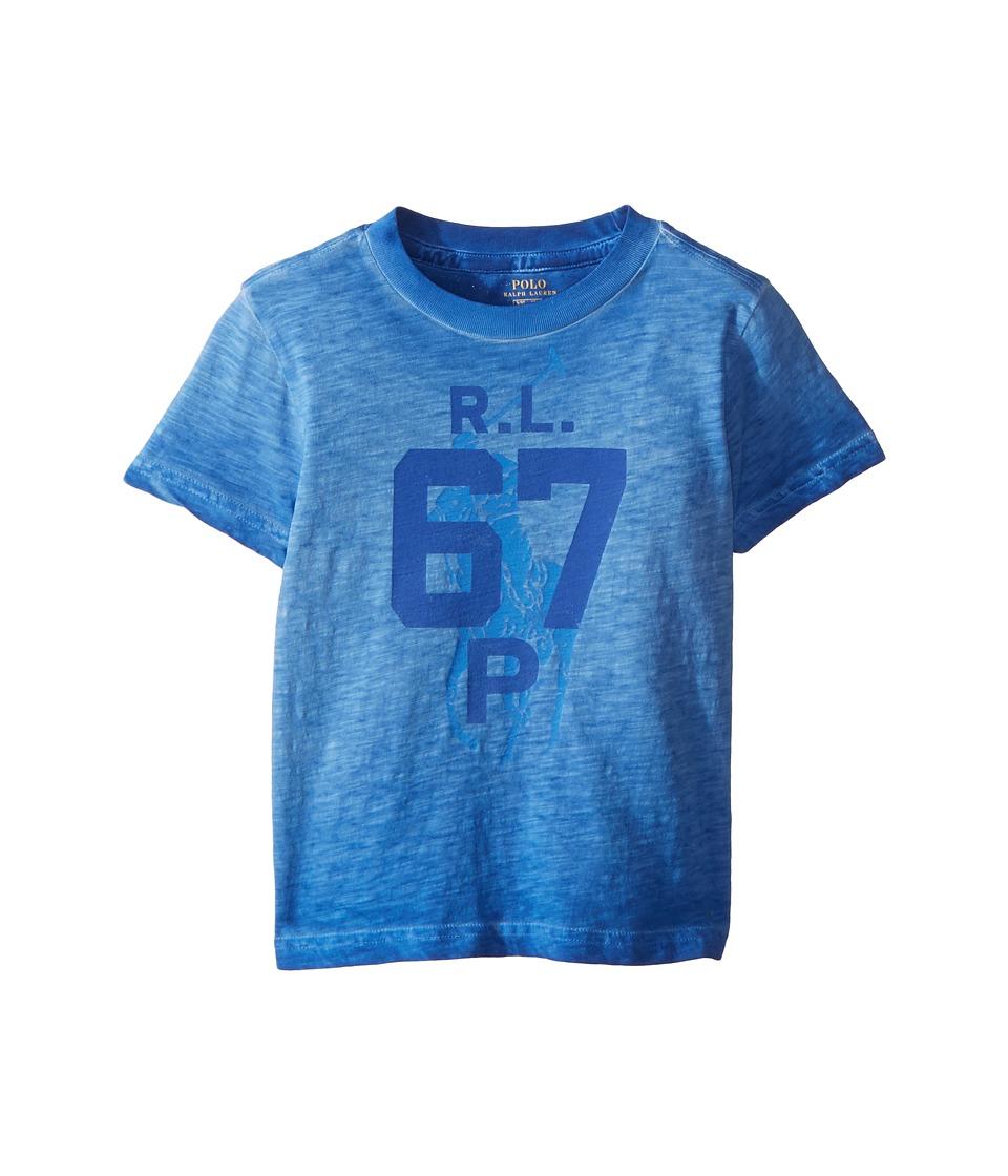 Polo Ralph Lauren Kids - Cotton Jersey Graphic T-Shirt (Toddler) (New Iris) Boys T Shirt