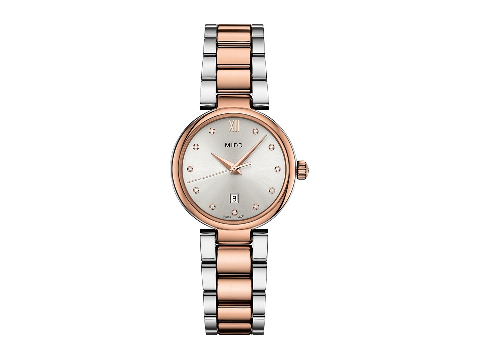 Mido - Baroncelli Donna - M0222102203600 (Silver/Steel/Rosa PVD) Watches