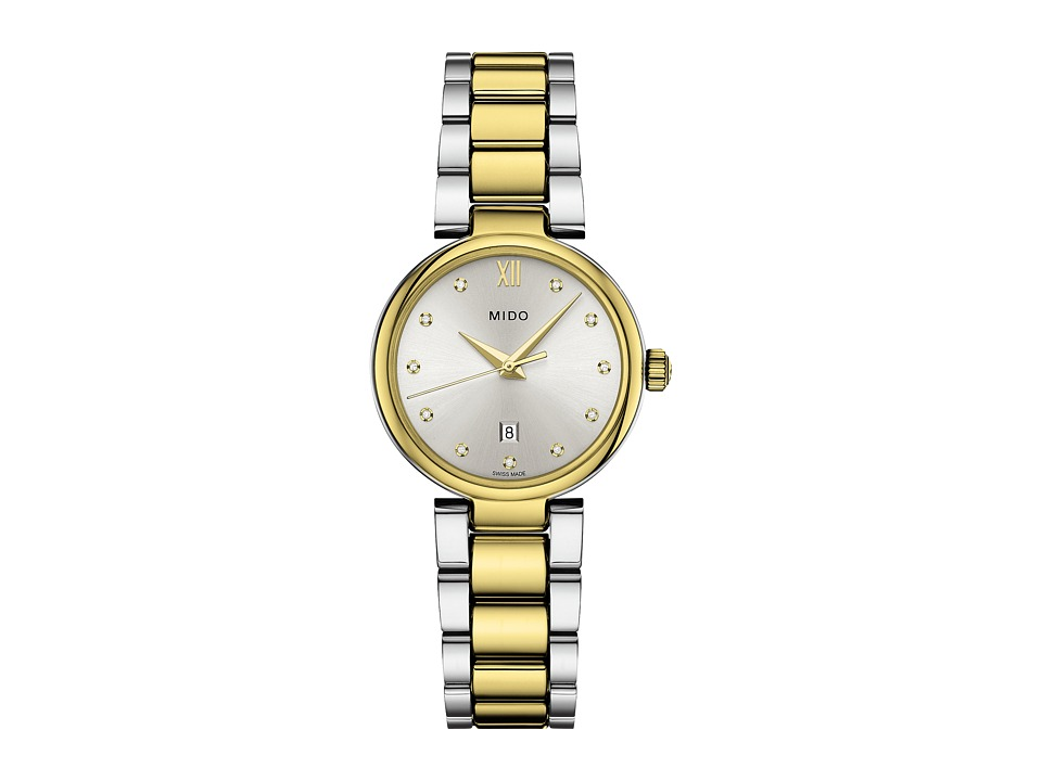 Mido - Baroncelli Donna - M0222102203609 (Silver/Steel/Yellow PVD) Watches