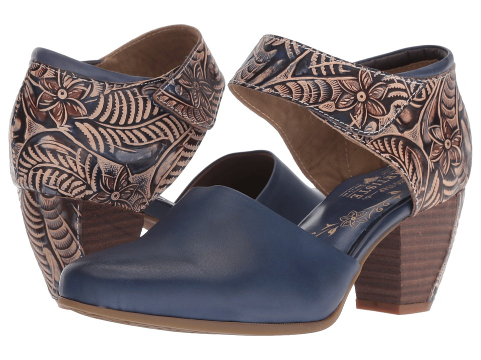 L'Artiste by Spring Step Toolie (Blue) Women's Shoes