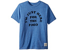 The Original Retro Brand Kids I'm Just Here for the Food Short Sleeve Tri-Blend Tee (Big Kids)
