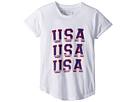 The Original Retro Brand Kids Rolled Short Sleeve Slub USA Tee (Big Kids)