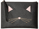 Kate Spade New York Cat's Meow Cat Medium Bella Pouch