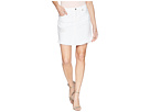 7 For All Mankind Skirt w/ Scallop Frayed Hem Destroy in White Fashion 3