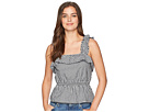 7 For All Mankind Ruffle Strap Top