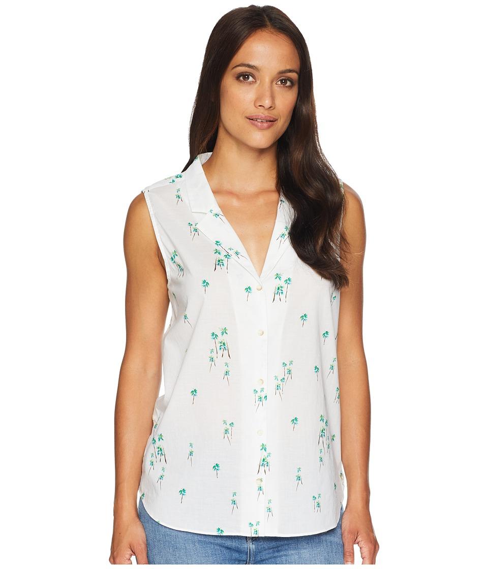 NYDJ - Sleeveless Button Detail Top (Three Palms Optic White) Womens Sleeveless