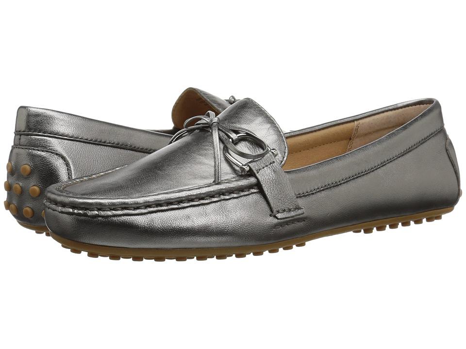 LAUREN Ralph Lauren Briley Moccasin Loafer (Gunmetal Metallic Kidskin) Women's Shoes