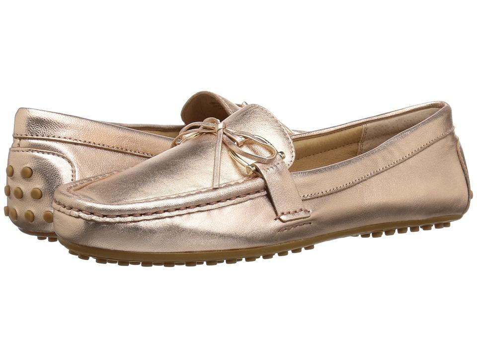 LAUREN Ralph Lauren Briley Moccasin Loafer (Rose Gold Metallic Kidskin) Women's Shoes