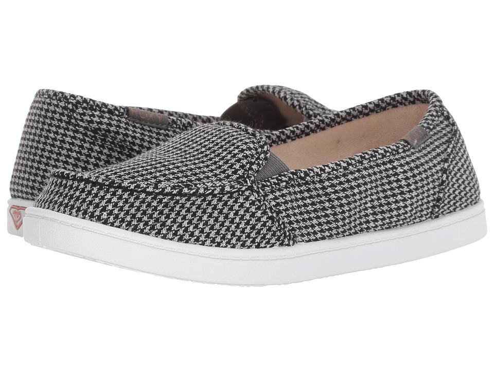 Roxy Minnow VI (Black/White) Slip-On Shoes