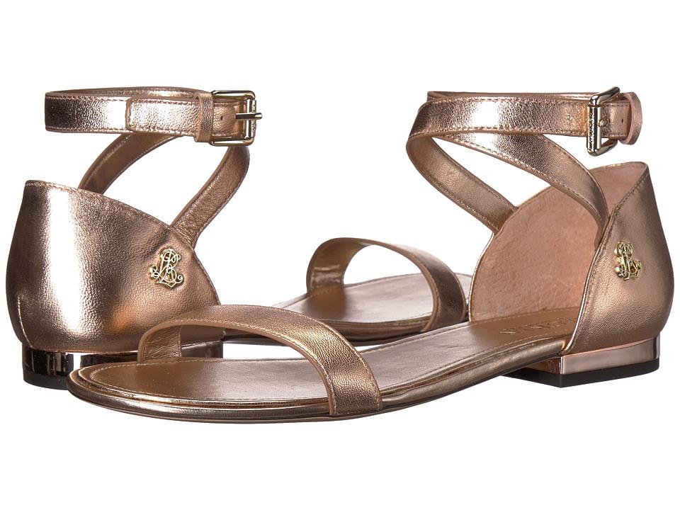LAUREN Ralph Lauren Davison (Rose Gold Metallic Kidskin) Women's Shoes